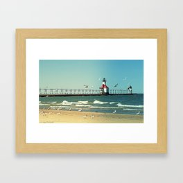 Summer at The Seashore Framed Art Print