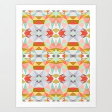 Summer Deco Tribal Art Print