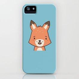 Kawaii Cute Red Fox iPhone Case