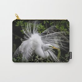 Great Egret displaying Carry-All Pouch