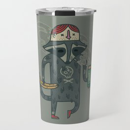"Raccoon wearing human ""hat"" Travel Mug"