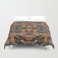 beast Duvet Covers featuring BEAST by Mercedes Olondriz
