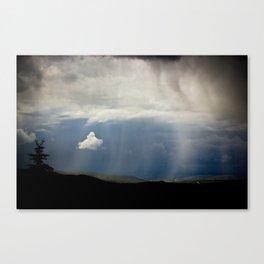 summer rainstorm at trails end Canvas Print