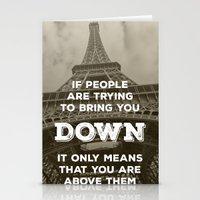 eiffel tower Stationery Cards featuring Eiffel tower by Solar Designs