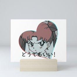 """Sailor Moon: """" I don't care!"""" Mini Art Print"""