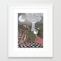 once upon a  time Framed Art Prints featuring Once Upon a Time by Judith Clay