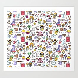 Alice in Doodleland Art Print