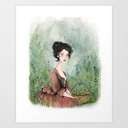 Claire Fraser Art Print