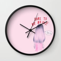 Dare to be Brave Wall Clock