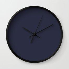 Peacoat Color Accent Wall Clock