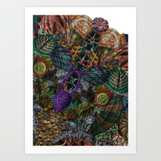 Psychedelic Botanical 12 Art Print