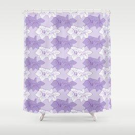 Purple Hellebores Shower Curtain