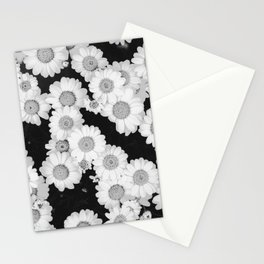The Daisy Garden (Black and White) Stationery Cards