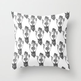 Hand of delicacy. By Ane Teruel. Throw Pillow