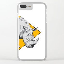 Rhino Yellow Clear iPhone Case