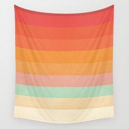 Rainbow Chevrons II Wall Tapestry
