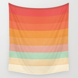 Rainbow Chevrons II Wall Tapestry