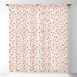 Happy confetti on soft pink Blackout Curtain