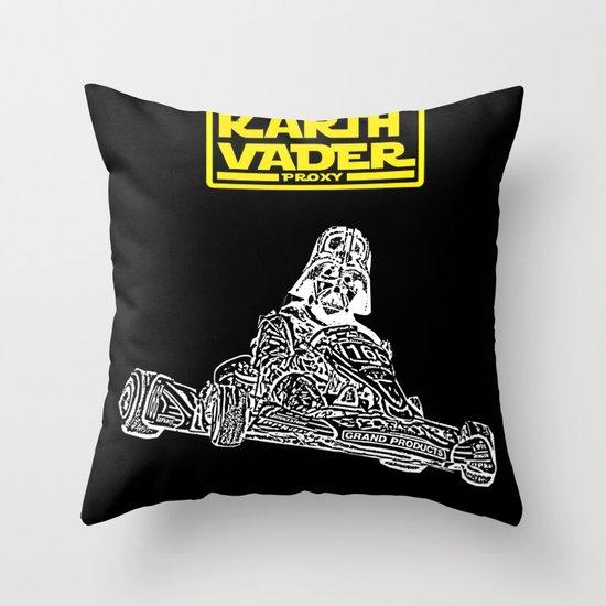 Kart Vader Throw Pillow