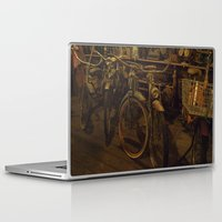 bicycles Laptop & iPad Skins featuring Bicycles by Gurevich Fine Art