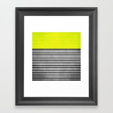 Yellow Gray Stripes Framed Art Print