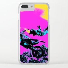 Letting Go - Freestyle Motocross Stunt Clear iPhone Case