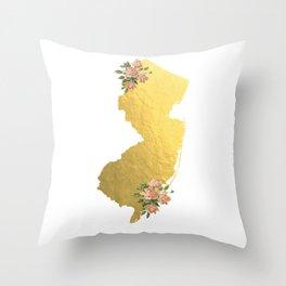 Baesic Gold Foil New Jersey Throw Pillow