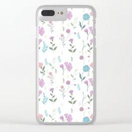 Tulum Floral 3 Clear iPhone Case