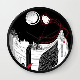 Catalyst Moon Incursion Wall Clock