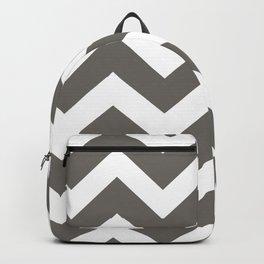 Grey Zig Zag Line Pattern Backpack