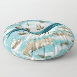 Ocean Meets Sky - option Floor Pillow