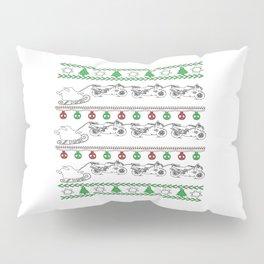 Biker Christmas Pillow Sham