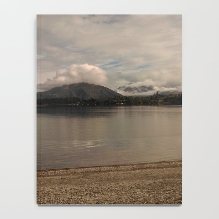 lake wanaka silent capture at sunset in new zealand Notebook