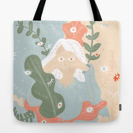 Your Eyes Are Following Me Tote Bag