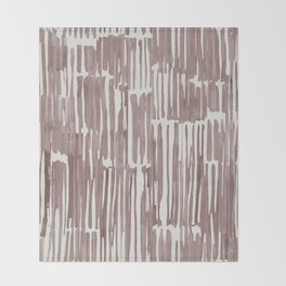 Simply Bamboo Brushstroke Red Earth on Lunar Gray Throw Blanket