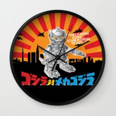 Lil' Mechagodzilla Wall Clock