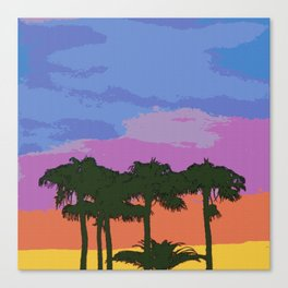 Find me under the palm trees Canvas Print