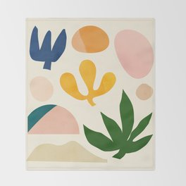 Abstraction_Floral_001 Throw Blanket