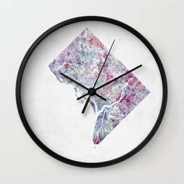 District of Columbia map 2 Wall Clock