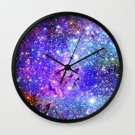 Galaxy Nebula Eagle Nebula Bright & Colorful Wall Clock