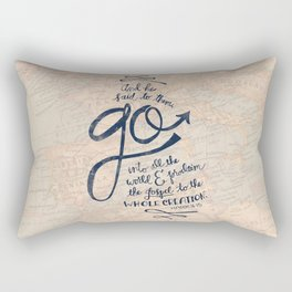 Go Into All The World Rectangular Pillow