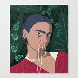 Frida, Mi Vida Canvas Print