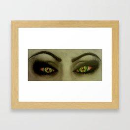 High Eyes Framed Art Print