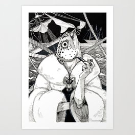 The Cryptids - Mermaid Art Print