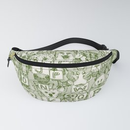 animal ABC green ivory Fanny Pack