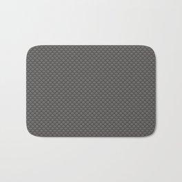 Pantone Pewter Gray Small Scallop, Wave Pattern Bath Mat