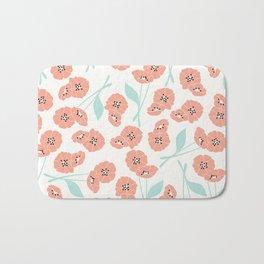 Retro flowers 001 Bath Mat