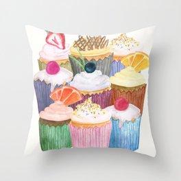 Cupcake Cluster Throw Pillow
