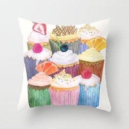 Cupcake Cluster Throw Pillow