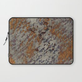 Graphic Grunge Orange and Grey Plaster Abstract Laptop Sleeve